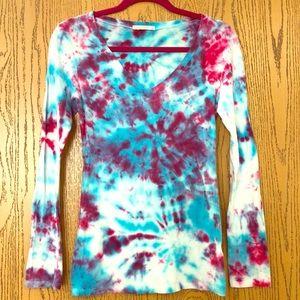 Tie dye long sleeve no clothing cotton candy shirt